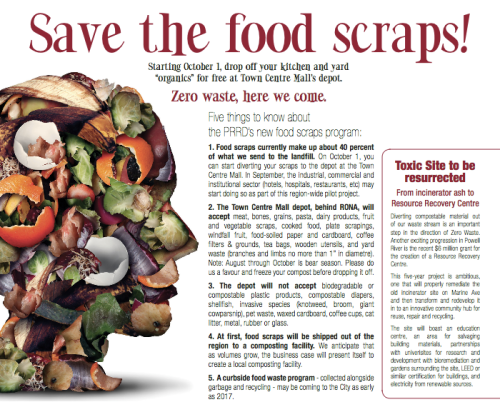 Save the Food Scraps PR Living Artile August 2016