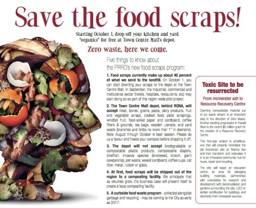 Save the Food Scraps PR Living Artile August 2016