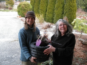 Congratulations Carol on your new 'plot pot'!